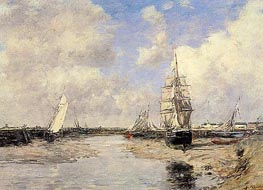 Estuary at Trouville, 1880 von Eugene Boudin | Gemälde-Reproduktion