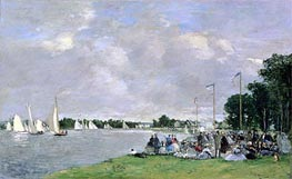 Regatta at Argenteuil | Eugene Boudin | Painting Reproduction