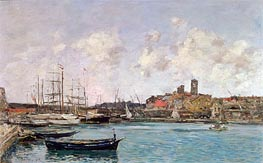 View of Antibes | Eugene Boudin | Gemälde Reproduktion