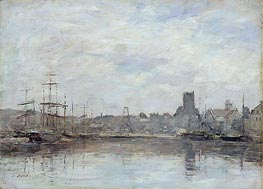 September Morning: Port of Fecamp, 1880 von Eugene Boudin | Gemälde-Reproduktion