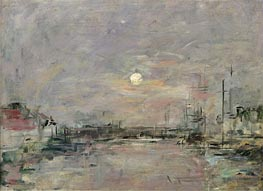 Dusk on the Commercial Dock at Le Havre | Eugene Boudin | Painting Reproduction