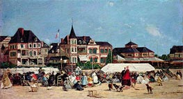 Casino de Trouville, Undated by Eugene Boudin | Painting Reproduction