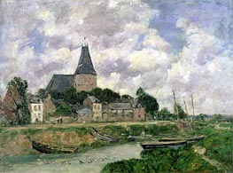 Quittebeuf, 1893 by Eugene Boudin | Painting Reproduction