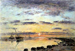 Le Havre, 1889 by Eugene Boudin | Painting Reproduction