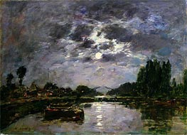 The Effect of the Moon | Eugene Boudin | Gemälde Reproduktion