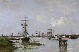 The Port at Anvers | Eugene Boudin | Painting Reproduction