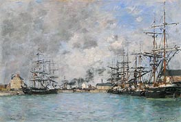 Deauville, the Bassin | Eugene Boudin | Painting Reproduction