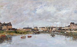 The Harbour at Trouville | Eugene Boudin | Gemälde Reproduktion