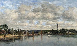 Hopital-Camfrout, Le Bourg | Eugene Boudin | Painting Reproduction