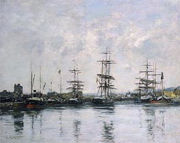 The Basin, Deauville | Eugene Boudin | Painting Reproduction