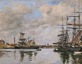 Trouville, the Harbour | Eugene Boudin | Gemälde Reproduktion