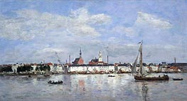 The Quay at Antwerp | Eugene Boudin | Gemälde Reproduktion