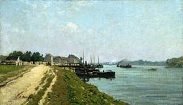 Banks of the Seine | Eugene Boudin | Gemälde Reproduktion