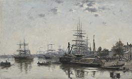 View of Bordeaux | Eugene Boudin | Gemälde Reproduktion