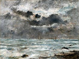 The Coast at Trouville | Eugene Boudin | Gemälde Reproduktion