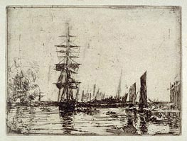 Bateaux, c.1897 by Eugene Boudin | Painting Reproduction