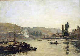 The Seine at Rouen | Eugene Boudin | Gemälde Reproduktion