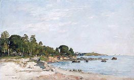 Juan-les-pins, the Bay and the Shore | Eugene Boudin | Gemälde Reproduktion