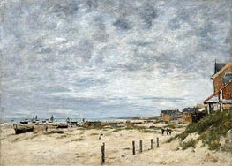 The Inlet at Berck (Pas-de-Calais), 1882 by Eugene Boudin | Painting Reproduction