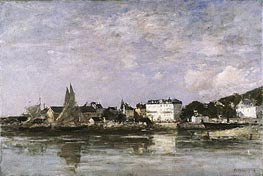 View of the Harbour at Trouville, 1878 von Eugene Boudin | Gemälde-Reproduktion