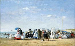 Fashionable Figures on the Beach | Eugene Boudin | Gemälde Reproduktion