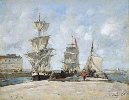 Harbor at Honfleur | Eugene Boudin | Gemälde Reproduktion