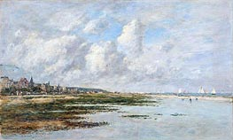 Deauville at Low Tide | Eugene Boudin | Gemälde Reproduktion