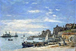 Quay at Villefranche | Eugene Boudin | Painting Reproduction