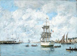 Port of Le Havre | Eugene Boudin | Painting Reproduction