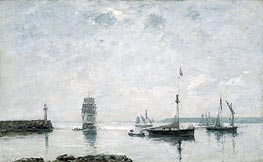 Harbor Entrance | Eugene Boudin | Gemälde Reproduktion