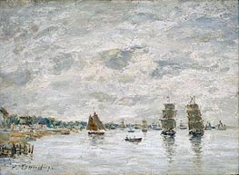 Port Scene, undated by Eugene Boudin | Painting Reproduction