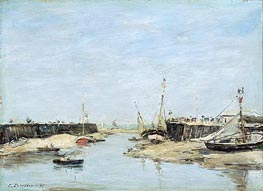 Trouville Les Jetees a Maree Basse, 1885 by Eugene Boudin | Painting Reproduction
