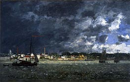 Storm over Antwerp, 1872 by Eugene Boudin | Painting Reproduction