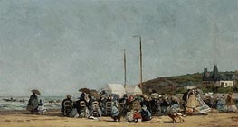 Trouville Beach | Eugene Boudin | Painting Reproduction