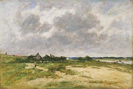 Etaples, les Bords de la Canche | Eugene Boudin | Gemälde Reproduktion