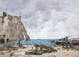 Beach at Etretat | Eugene Boudin | Gemälde Reproduktion