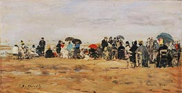 Beach at Trouville, 1880 von Eugene Boudin | Gemälde-Reproduktion