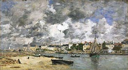 View of Trouville, 1873 von Eugene Boudin | Gemälde-Reproduktion