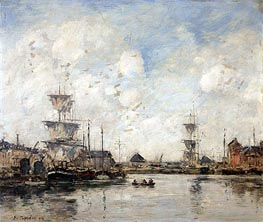 Fecamp, the Basin, 1894 by Eugene Boudin | Painting Reproduction