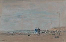 Beach Scene, 1864 by Eugene Boudin | Painting Reproduction