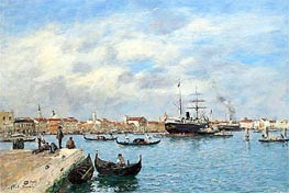 Venice, the Grand Canal, 1895 by Eugene Boudin | Painting Reproduction