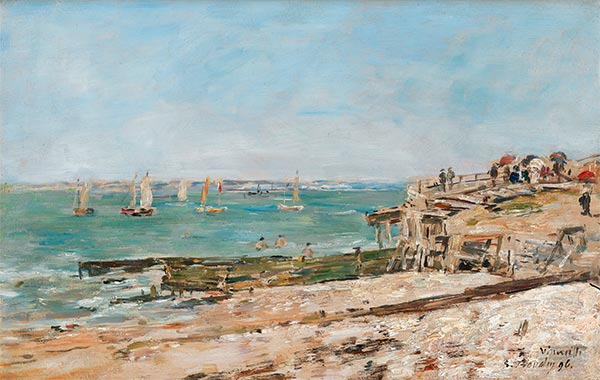 Villerville, the Shore, 1896 | Eugene Boudin | Painting Reproduction