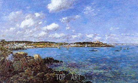 The Bay of Douarnenez, 1897 | Eugene Boudin | Painting Reproduction