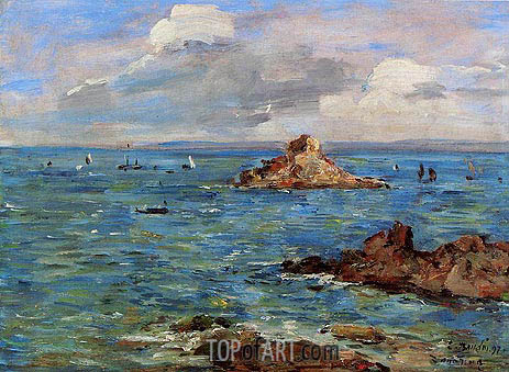 The Sea at Douarnenez, 1897 | Eugene Boudin | Gemälde Reproduktion