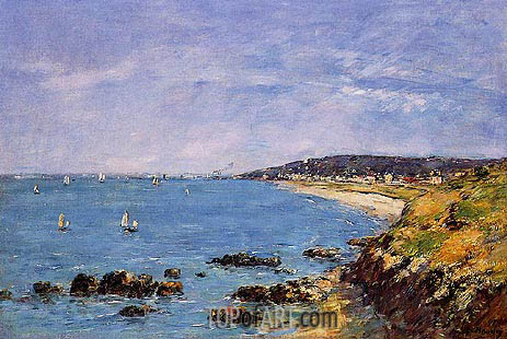 Trouville, View from the Heights, 1897 | Eugene Boudin | Gemälde Reproduktion