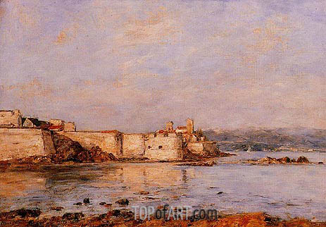 The Harbor of Antibes, undated | Eugene Boudin | Gemälde Reproduktion