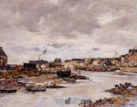 The Inner Port of Trouville at Low Tide, undated | Eugene Boudin | Gemälde Reproduktion