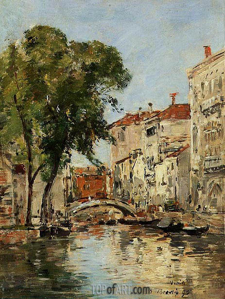 A Small Canal in Venice, 1895 | Eugene Boudin | Gemälde Reproduktion