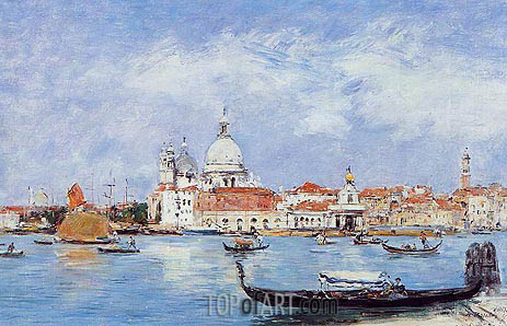 Venice, Vue from the Grand Canal, 1895 | Eugene Boudin | Gemälde Reproduktion