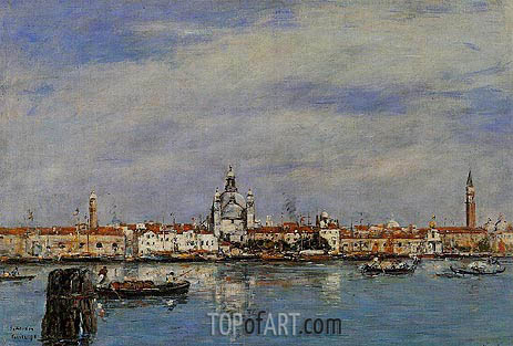 Venice, the Grand Canal, 1895 | Eugene Boudin | Painting Reproduction